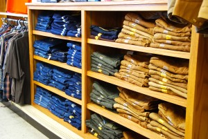 A full range of mens pant sizes for work and recreation