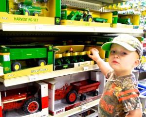 A future farmer already knows good farm equipment!